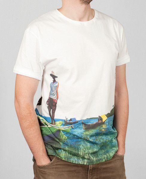 T-shirten 'Indo' fra det nystartede surferbrand #KUDU har motiv fra Indonesien. 100% bomuld med ekstra længde. #tshirt #modeblog #mens #graphic #tee #aalborg #t