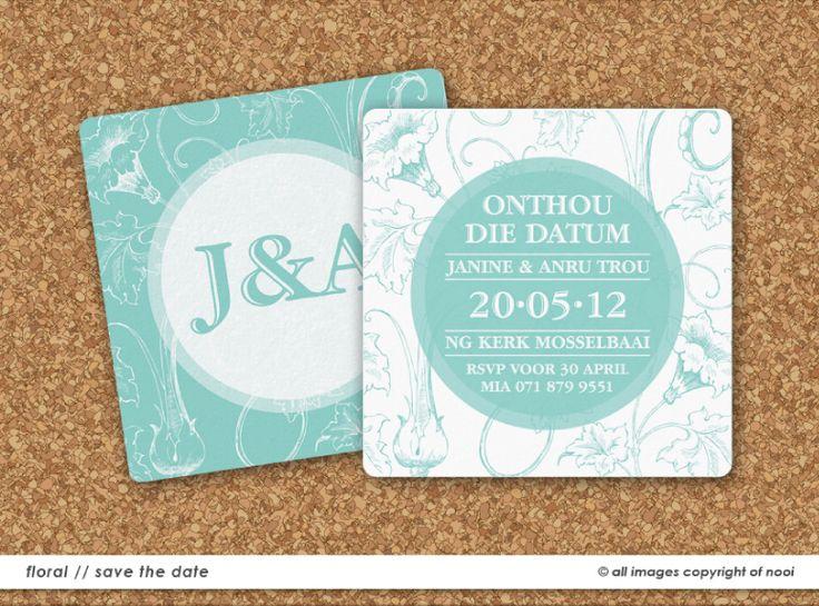 Janine & Anru's Wedding Invite  www.nooievents.co.za