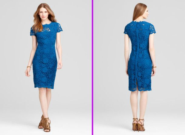 Lagoon Blue Lolly Lace Dress For Women - pictures, photos, images