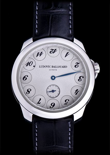 Ludovic Ballouard Upside Down Platinum Hand Wound Available at Cellini Jewelers