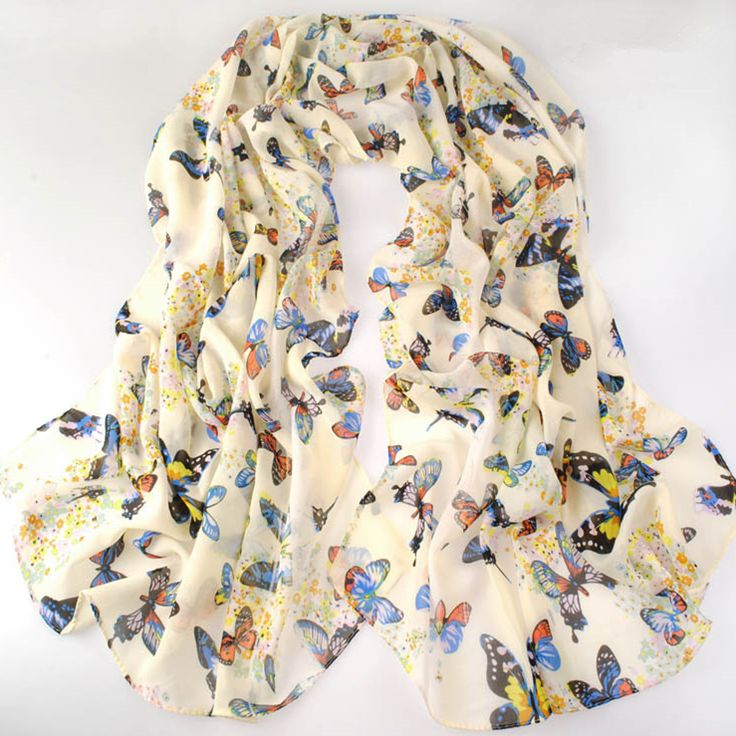 new fashion style butterfly Scarves women's scarf long shawl spring silk pashmina chiffon infinity scarf-in Scarves from Women's Clothing & Accessories on Aliexpress.com | Alibaba Group