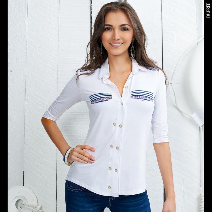 Blusa estilo marinero. Moda Dupree