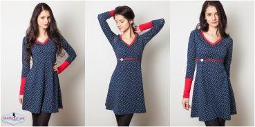 wieder ein hübsches Schnittmuster für ein Kleid