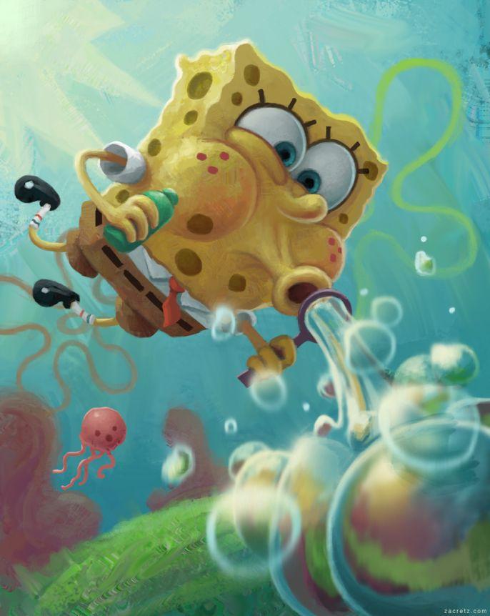 Spongebob by zacretz.deviantart.com on @DeviantArt