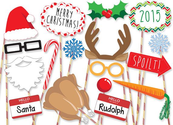 MEGA PACK Christmas Photobooth Props PRINTABLE by PanicPrintables