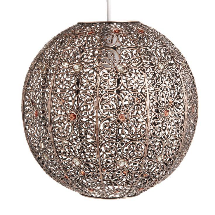 Morrocan sphere pendant bronze