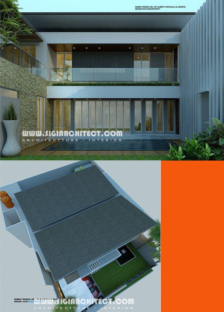 rumah-mewah-2-lantai-kolam-renang-atap tegola