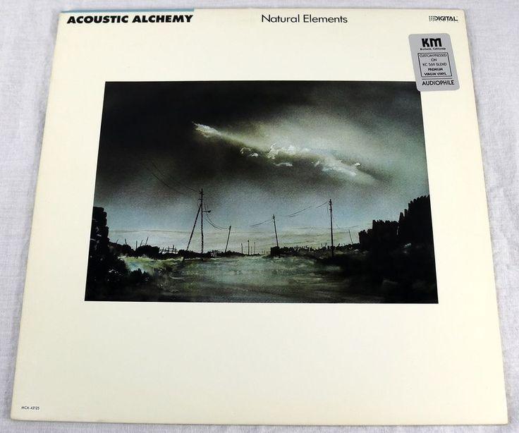 Acoustic Alchemy 1988 Natural Elements Promo Vinyl LP Album Audiophile Music #Electronic1980sJazzExperimentalFolkWorldCountryNewAge