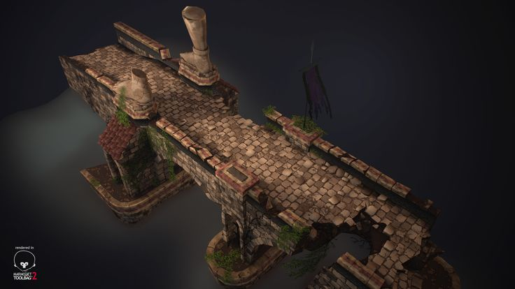 This is a bridge inspired of Diablo 3.  Ref : http://www.diabloii.net/gallery/data/560/medium/Goatmen_on_a_bridge.jpg