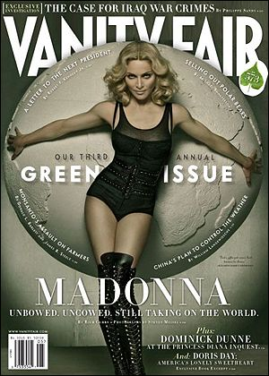 Madonna poses in leotard on Vanity Fair Cover