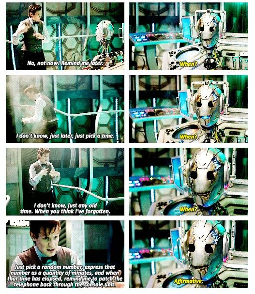 I just realized something the Doctor told Handles to remind him to fix the phone. The last thing Handles did was remind him. After 300 years he remembers to do this.