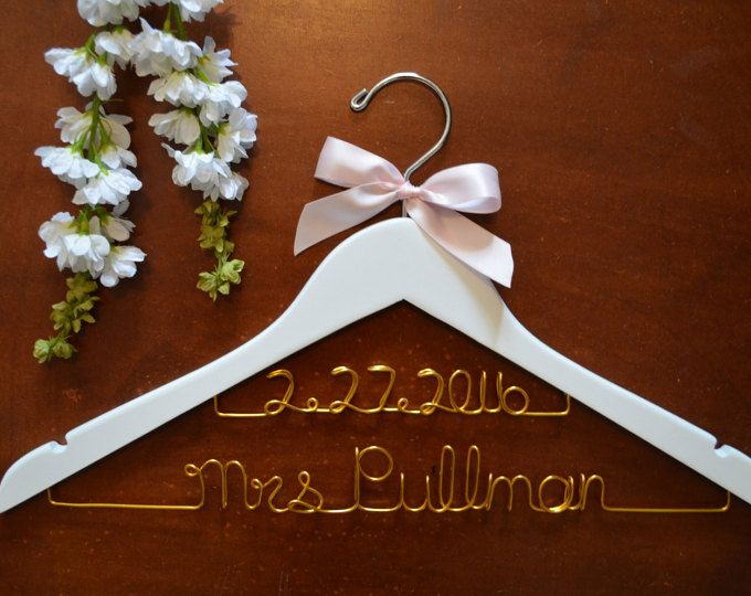Unique Hangers 91 best personalized custom wire wedding hangers images on