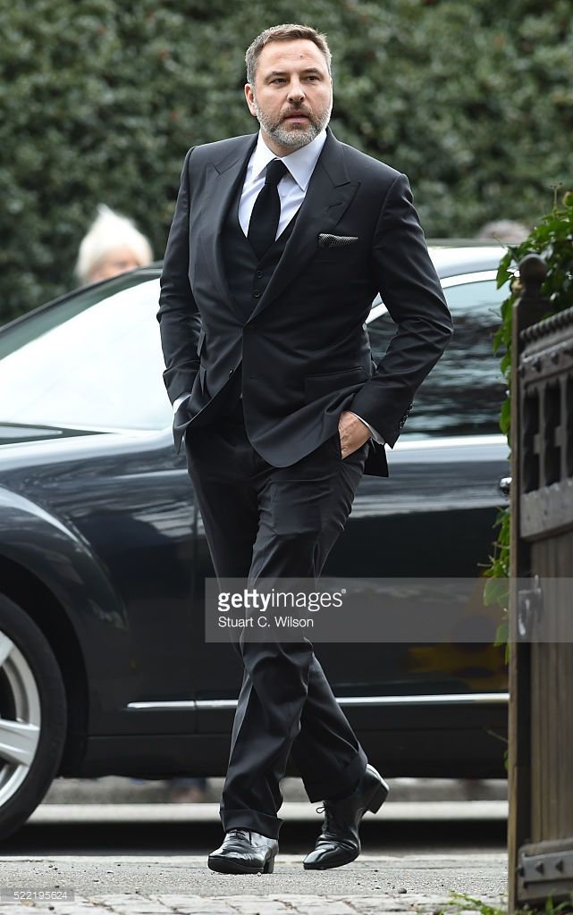 David Walliams arrives for the funeral of entertainer Ronnie Corbett April 18, 2016 in Shirley, England. Ronnie Corbett best known for BBC comedy sketch show The Two Ronnies, died aged 85.