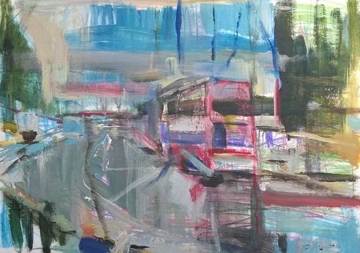https://flic.kr/p/qTen7s | The Muswell Hill Road, London Bus. | Acrylic and crayon on card 14 x 10 inches.
