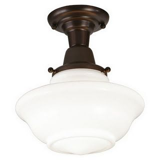 Schoolhouse light...for the school room. Lowes $33. Now we're talkin'.