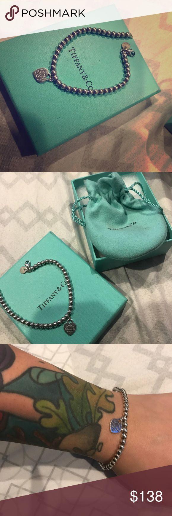 Authentic Return To Tiffany Bead Bracelet 💙 Authentic Tiffany & Co 65 In  Beaded Bracelet