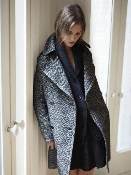 .Cool Grey w/black dress #elegance #frenchstyle #fashionover40