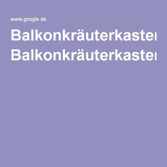 BalkonkräuterkastenGoogle