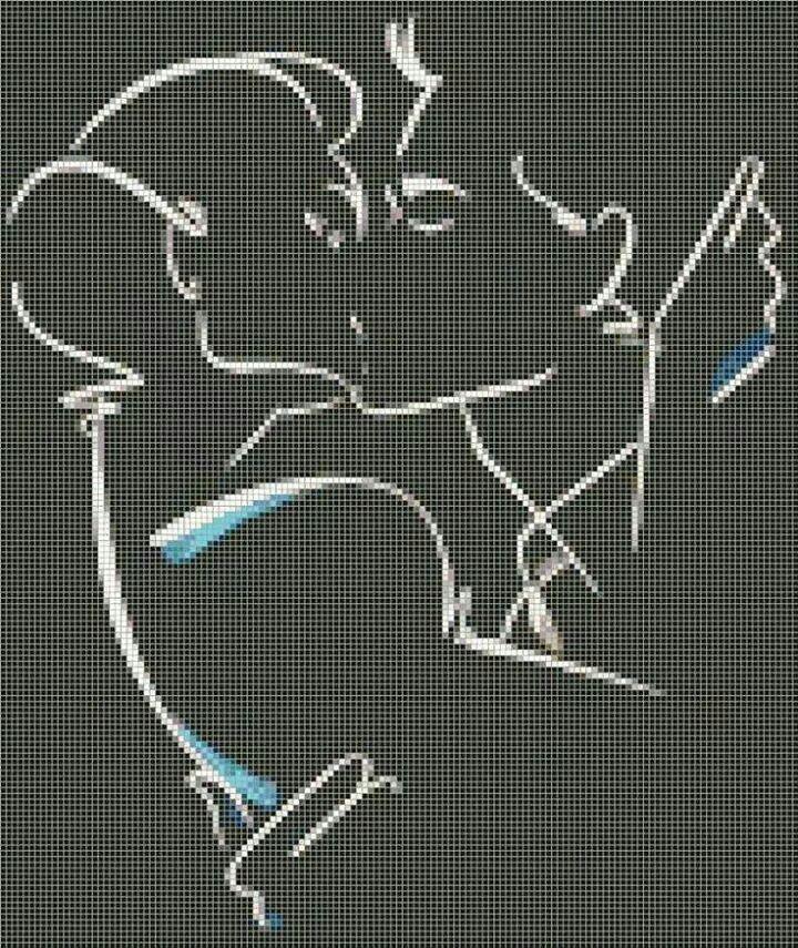 Il bacio | Punto croce, Ricamo punto croce e Schema