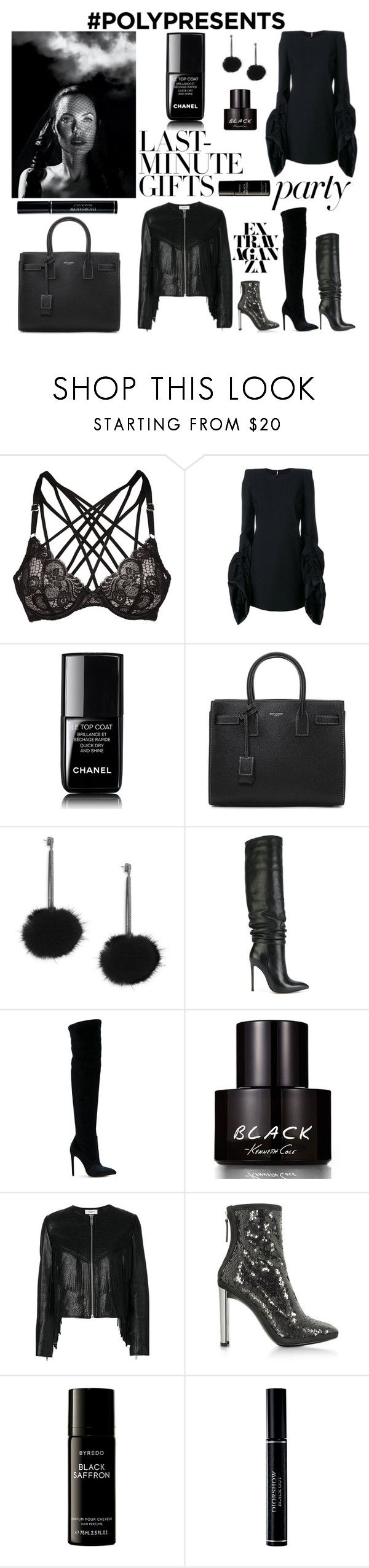 """#PolyPresents: Last-Minute Gifts"" by fpb173 on Polyvore featuring moda, Agent Provocateur, Yves Saint Laurent, Chanel, Adriana Orsini, Gianni Renzi, Kenneth Cole, Étoile Isabel Marant, Giuseppe Zanotti e Byredo"