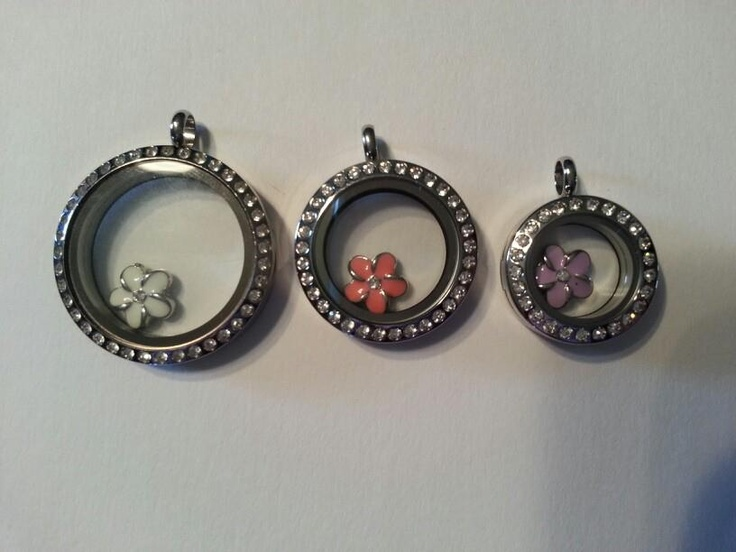 origami owl size comparison from left to right large