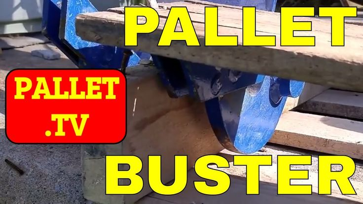 Dismantle Wood Pallets using a Pallet Buster - Dismantling pallets quickly is the basis of pallet up-cycling. Things that are hard usually aren't repeated. B...