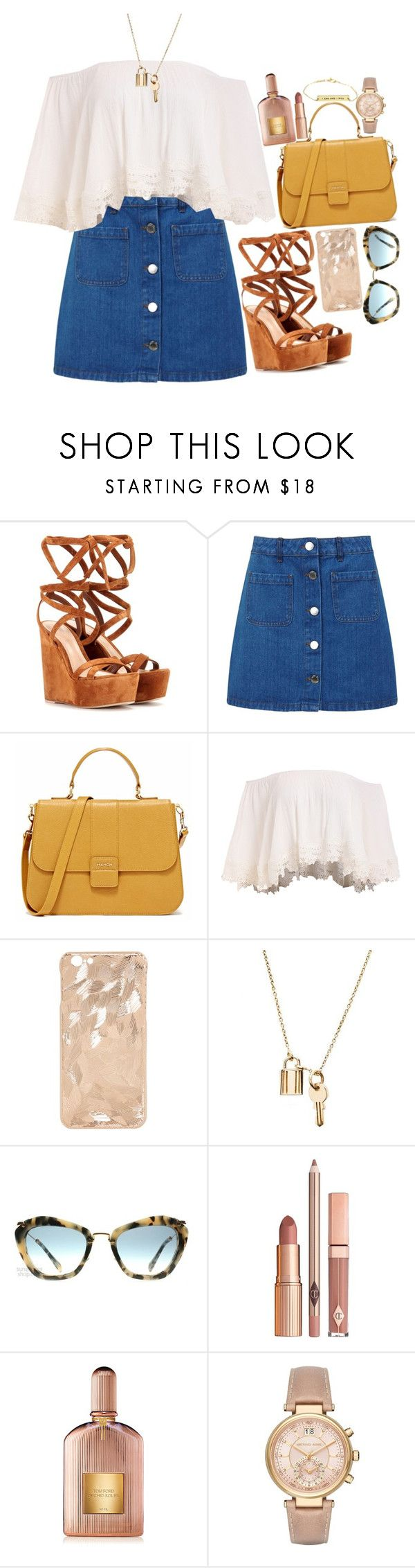 """""""Untitled #813"""" by polinachaban ❤ liked on Polyvore featuring Gianvito Rossi, Miss Selfridge, Miu Miu, Dolce Vita, Tom Ford and Michael Kors"""
