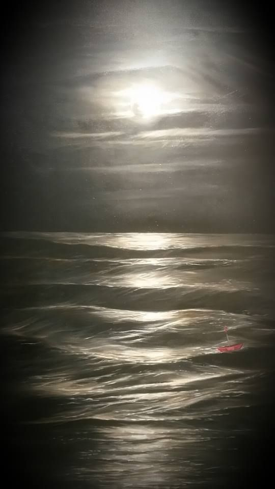 Moonlight Shadow by Tasmanian artist John Karafyllis. oil on canvas.