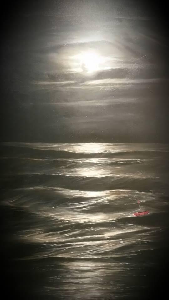 Moonlight Shadow by Tasmanian artist John Karafyllis. oil on canvas.