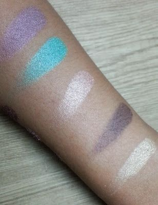Swatched of NYX For Your Eyes Only Palette