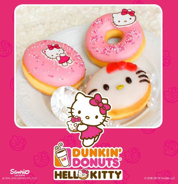 Donkin Donuts and Hello Kitty have launched Hello Kitty Donuts in Germany