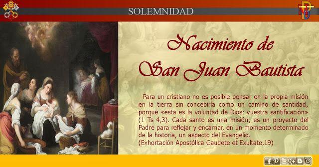 Anuncio Nacimiento De Juan El Bautista