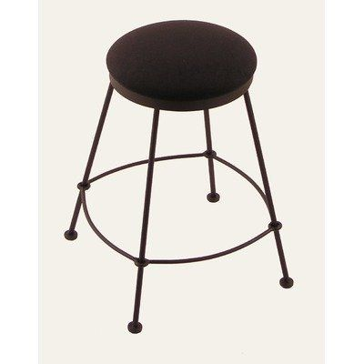 "3030 Backless Stationary Barstool Height: 25"", Seat Type: Fabric - Gauge Decaf by Holland Bar Stool. $145.00. HBS253030BlackWrinkleGaugeDecaf Height: 25"", Seat Type: Fabric - Gauge Decaf Features: -Available in several seat types.-Commercial quality frame with solid welds.-Manufactured from high quality plating grade steel.-Made in the USA. Options: -Available in 25'' or 30'' height sizes. Construction: -Steel construction. Color/Finish: -Black wrinkle metal fi..."