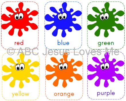 Free ABC Jesus Loves Me Printable Color Flashcards