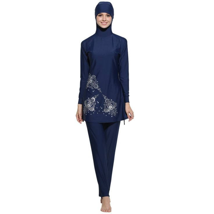 Turkish Islam swimsuit hijab muslim swimwear women high waisted bathing SwimSuits Swimwear islamic beach wear traje de bano mujer Ramadan -- AliExpress Affiliate's Pin.  Offer can be found online by clicking the VISIT button