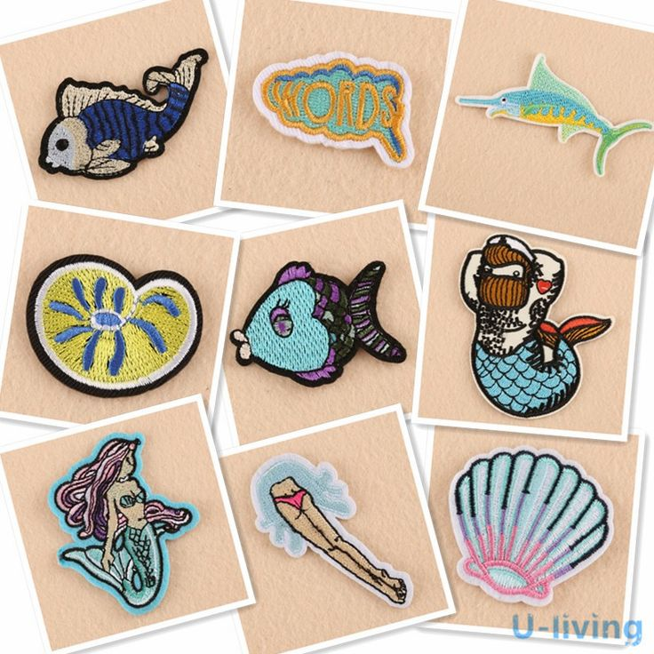Cheap patches for clothing iron, Buy Quality patches for clothing directly from China fabric badges Suppliers: 1pcs Underwater water Patch for Clothing Iron on Embroidered Sew Applique Cute Patch Fabric Badge Garment Apparel Accessories