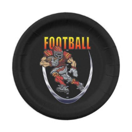 Football running back paper plate - party gifts gift ideas diy customize
