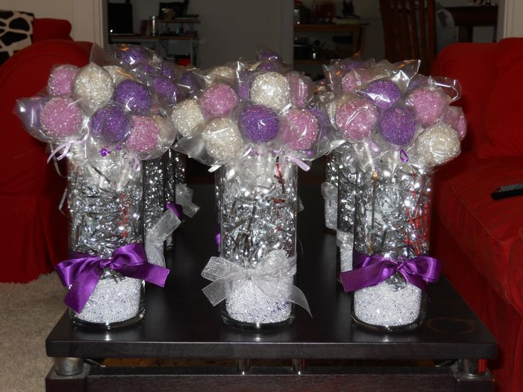 Cake Pop Centerpieces