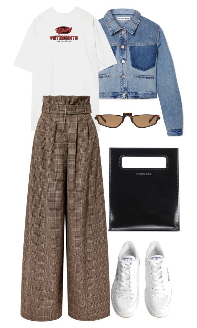 """""""Untitled #765"""" by szudi on Polyvore featuring RE/DONE, Vetements, Maison Margiela, Reebok and Helmut Lang"""