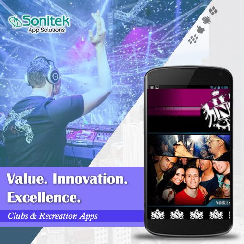 Customized Mobile Apps Solutions for Clubs.  Know More Here: http://www.sonitekapps.com/  #MobileApps