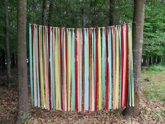 Vintage Carnival Ribbon Backdrop Garland Shabby Chic for Weddings Party Photobooth on Etsy, $159.00