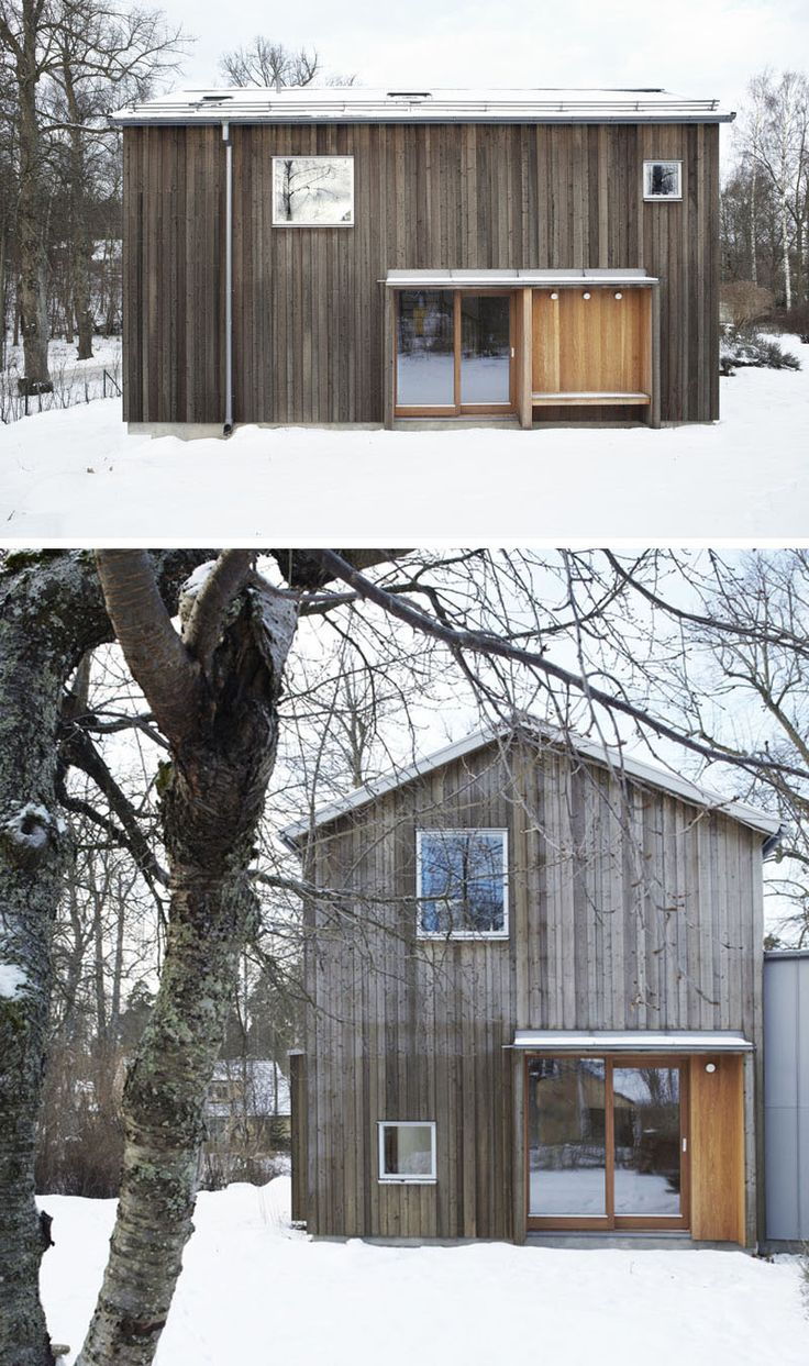 55 best swedish architecture images on pinterest modern for Types of wood siding for homes