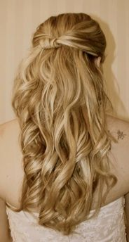 Wedding Hairstyle... half up/half down, soft curls