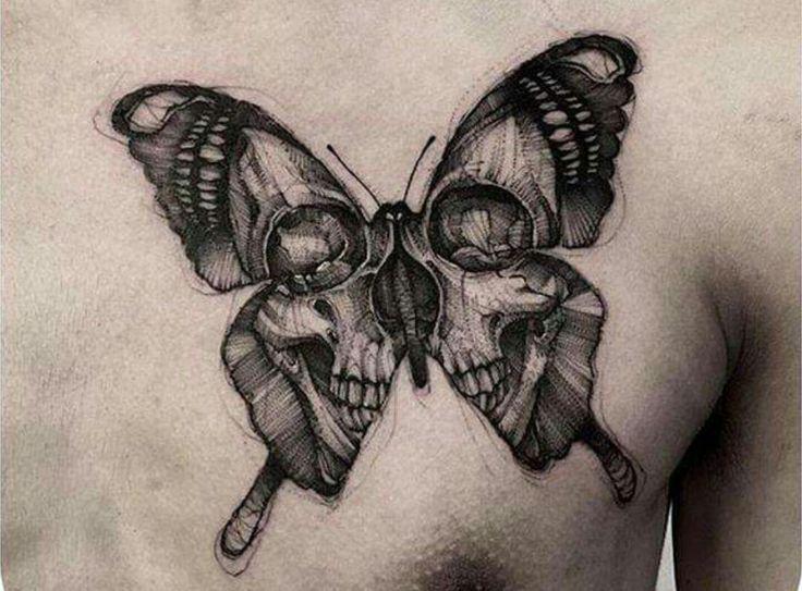 Vlinder met schedel