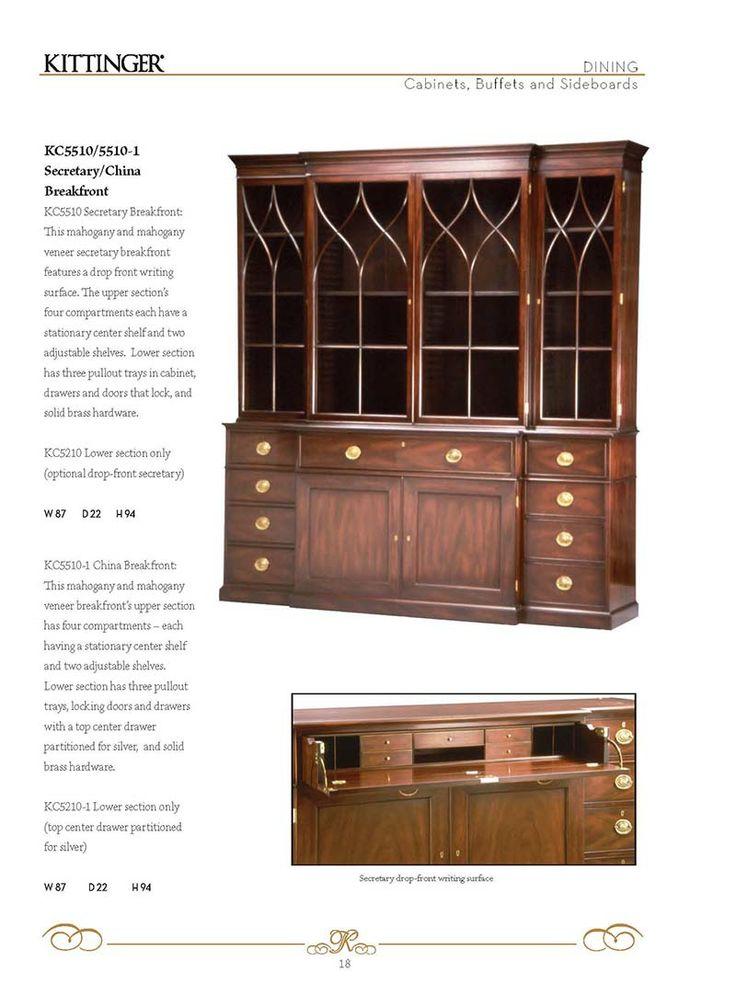 Kittinger® Furniture Company- Dining ○ Casegoods | KC5510/5510-1 Secretary/ - 8 Best Kittinger Furniture Images On Pinterest Bureaus, Desks