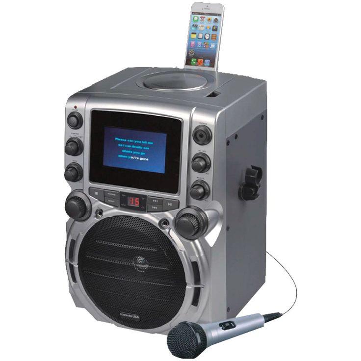 "Karaoke Usa Cd+g Bluetooth Karaoke System With 4.3"" Tft Color Screen"