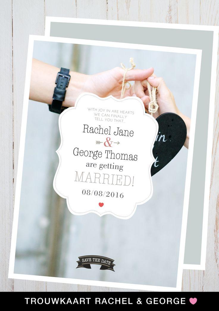 Trouwkaartje Rachel en George