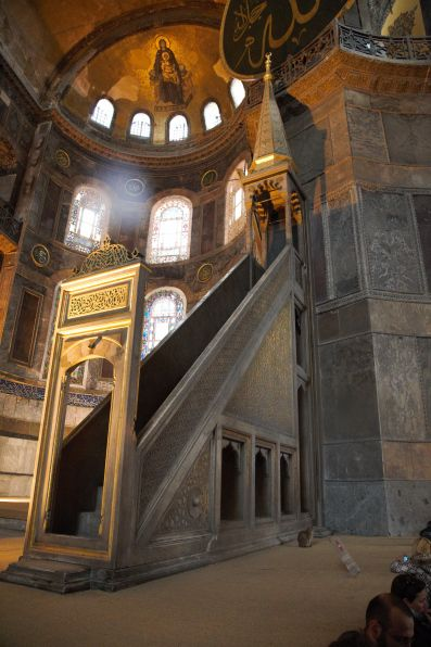 Hagia Sophia altar and minbar