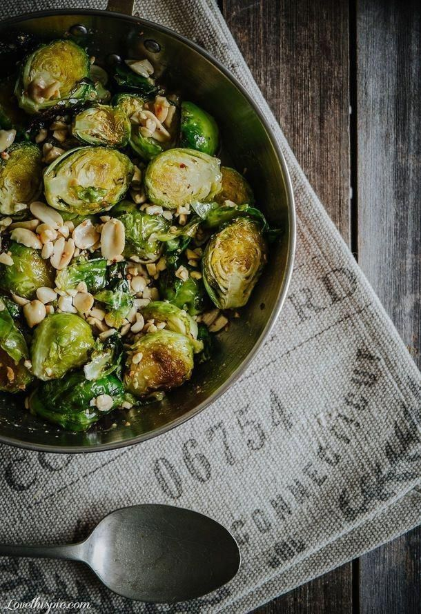 Roasted Brussels Sprouts with Honey and Peanuts | Photographer: 2011 Peter Georg…   – Health and Fitness