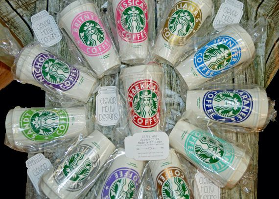 Teacher Gifts a Personalized Starbucks Coffee Cups | Mug • Custom Tumbler • Tea Cup (Genuine Starbucks Cup, Reusable see Bonus) [gift idea] by cleverhollydesigns. Explore more products on http://cleverhollydesigns.etsy.com